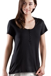 Shirt m. Knopfleiste von Skiny