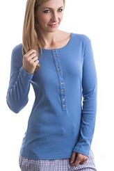 Langarm-Shirt, Knopfleiste von Schiesser