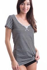 Shirt, kurzarm stripe von Skiny