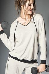 Langarm-Shirt mit Kapuze von Antigel