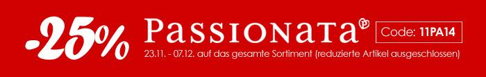 25% Rabatt auf die aktuelle Passionata Kollektion
