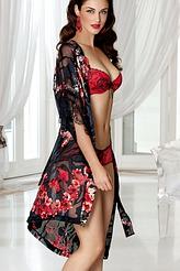 Kimono Kurz Seide von Lise Charmel