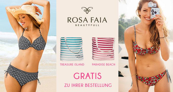 Rosa Faia Strandtasche Gratis zu Set-Kauf