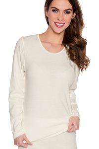 Sangora Unterwäsche Shirt langarm, Serie Baumwolle/Angora