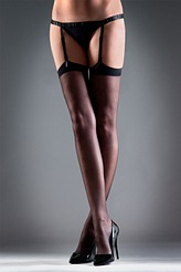 Stockings Plain black von Bluebella