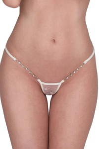 Lucky Cheeks Dessous Ivory Pearl Luxury Micro String, Serie Luxury String Edition