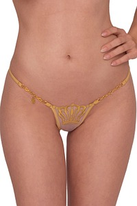 Lucky Cheeks Dessous Queen of Love Luxury String Gold, Serie Luxury String Edition