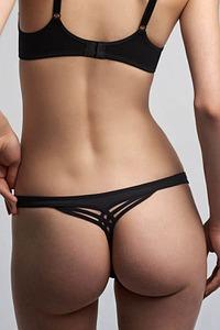 Marlies Dekkers Dessous String - 2 cm, Serie Dame de Paris black