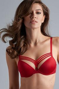 Marlies Dekkers Dessous Push-Up-BH, Serie Dame de Paris red