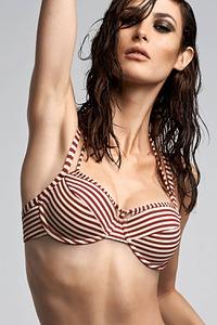 Marlies Dekkers Bademode Plunge Balconette Bikini-Oberteil, Serie Holi Vintage red