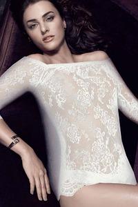 Escora Dessous Shirt mit Carmen-Ausschnitt, Serie Inessa