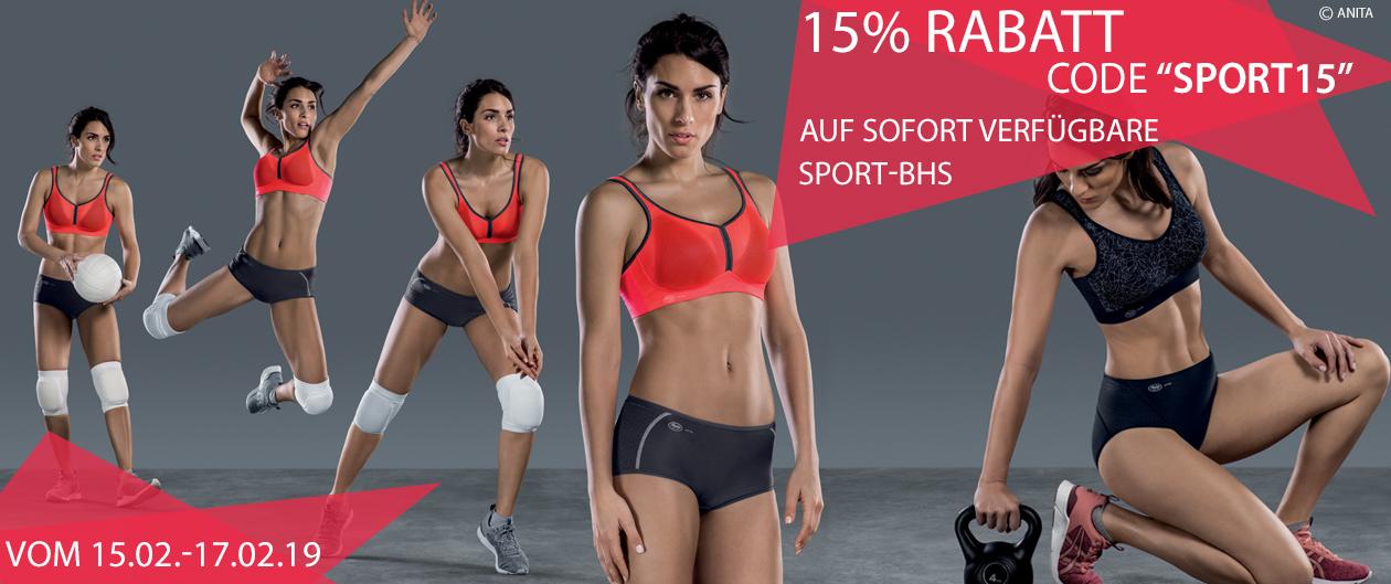 15 Prozent Rabatt auf Sport-BHs