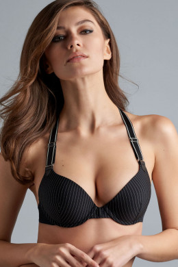 Marlies Dekkers Gloria Black Pinstripe Push-Up-BH