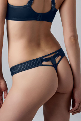 Marlies Dekkers Gloria pinstripe dark blue String