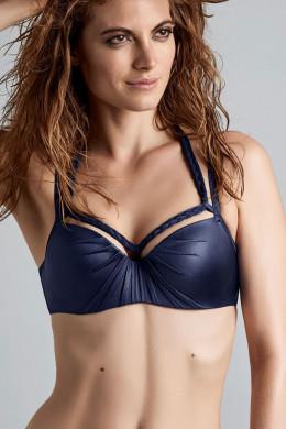 Marlies DekkersHoli Glamour navyPlunge Balconette Bikini-Oberteil