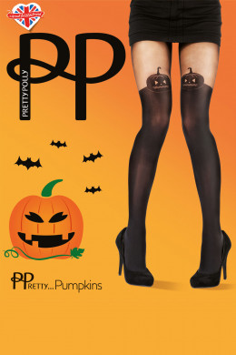 PrettyPolly Halloween Tights Pumpkin Tights