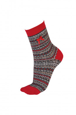 PrettyPolly Christmas Fairisle Socks