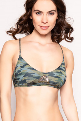 WatercultCamo LuxeBralette Bikini-Oberteil