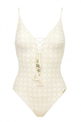 Watercult Beach Broderie Laced Badeanzug