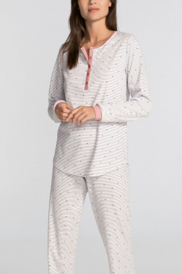 Calida Sweet Dreams Pyjama mit Knopfleiste rose