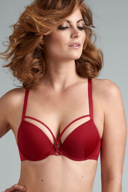 Marlies Dekkers Space Odyssey red lurex Push-Up-BH
