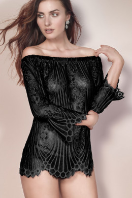 EscoraJosephineShirt mit Carmen-Ausschnitt