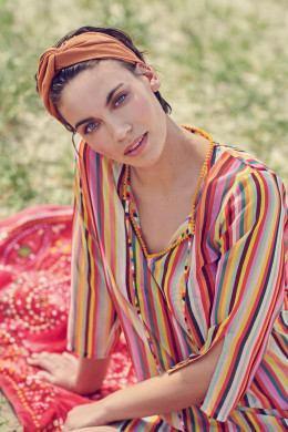 Pip Studio Beachwear 2020 Damien Rainbow Stripe Tunic