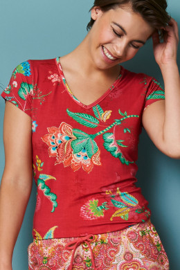 Pip Studio Loungewear 2020 Toy Jambo Flower Top Short Sleeve
