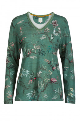 Pip StudioLoungewear 2020-2Trice Woodland Nights Top Long Sleeve