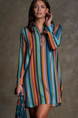 Pip Studio Nightwear 2020-2 Daal Folklore Stripe Nightdress