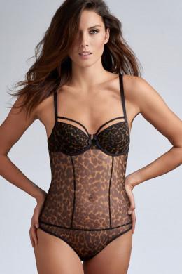 Marlies DekkersPeekabooBalconette Body leopard B-C