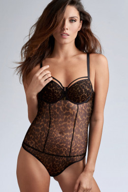 Marlies DekkersPeekabooBalconette Body leopard D-F