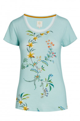 Pip Studio Loungewear 2021 Tilly Grand Fleur Top Short Sleeve