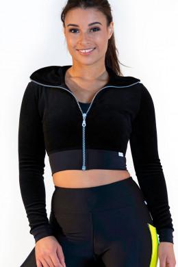 CalaoFitnessCrop Blouson - velvet black