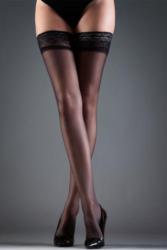 Abbildung zu Hold Ups Lace black (35038) der Marke Bluebella aus der Serie Hosiery