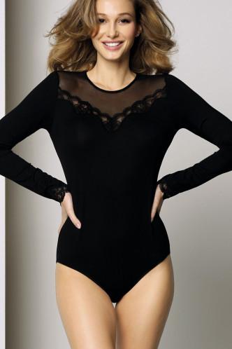 Abbildung zu Wohlfühl-Body, langarm mit Tüll (ENA7106) der Marke Antigel aus der Serie Simply Perfect Loungewear