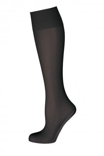 Abbildung zu Seidenmatt 20 Baumwoll-Sohle Kniestrümpfe (902629) der Marke Elbeo aus der Serie Elegance