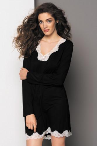 Abbildung zu Wohlfühlnachthemd langarm (FNA1306) der Marke Antigel aus der Serie Simply Perfect Loungewear