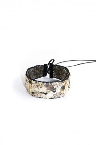 Abbildung zu GOLDEN GLITTER - Halsband (m012) der Marke Mondin aus der Serie Hals- und Armschmuck