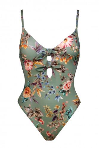 Abbildung zu Badeanzug mit Doppelschleife (8131113) der Marke Watercult aus der Serie Boho Blossom