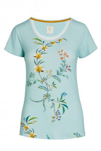 Abbildung zu Tilly Grand Fleur Top Short Sleeve (51512121-126) der Marke Pip Studio aus der Serie Loungewear 2021