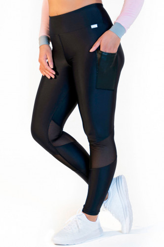Abbildung zu Leggings high waist - mesh black (FN1282) der Marke Calao aus der Serie Fitness