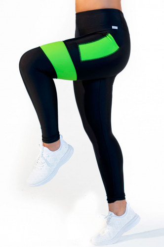 Abbildung zu Leggings high waist - neon green (FN1281G) der Marke Calao aus der Serie Fitness Neon