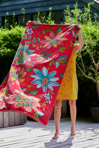 Abbildung zu Exoticana Beach Towel rosa (217788) der Marke Pip Studio aus der Serie Accessoires